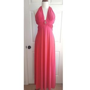 NEW Date Club Backless Watermelon Pink Gown Dress